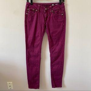 Miss Me Magenta Skinny Embellished Jean- Size 27